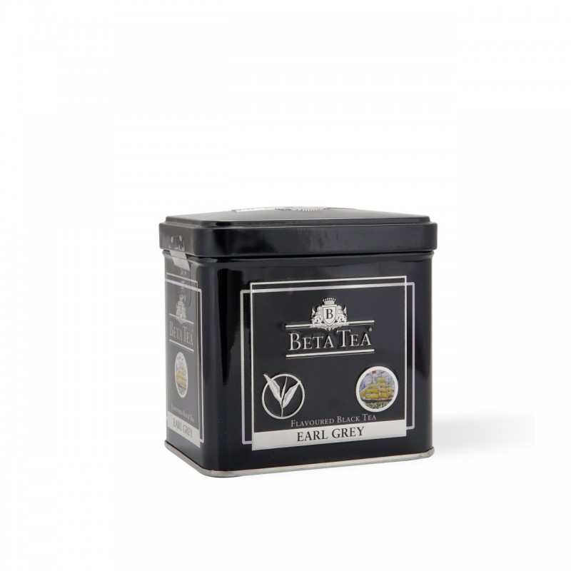 Beta Earl Gray Metal Packaging 100 GR (Bergamot - Bud Tea)